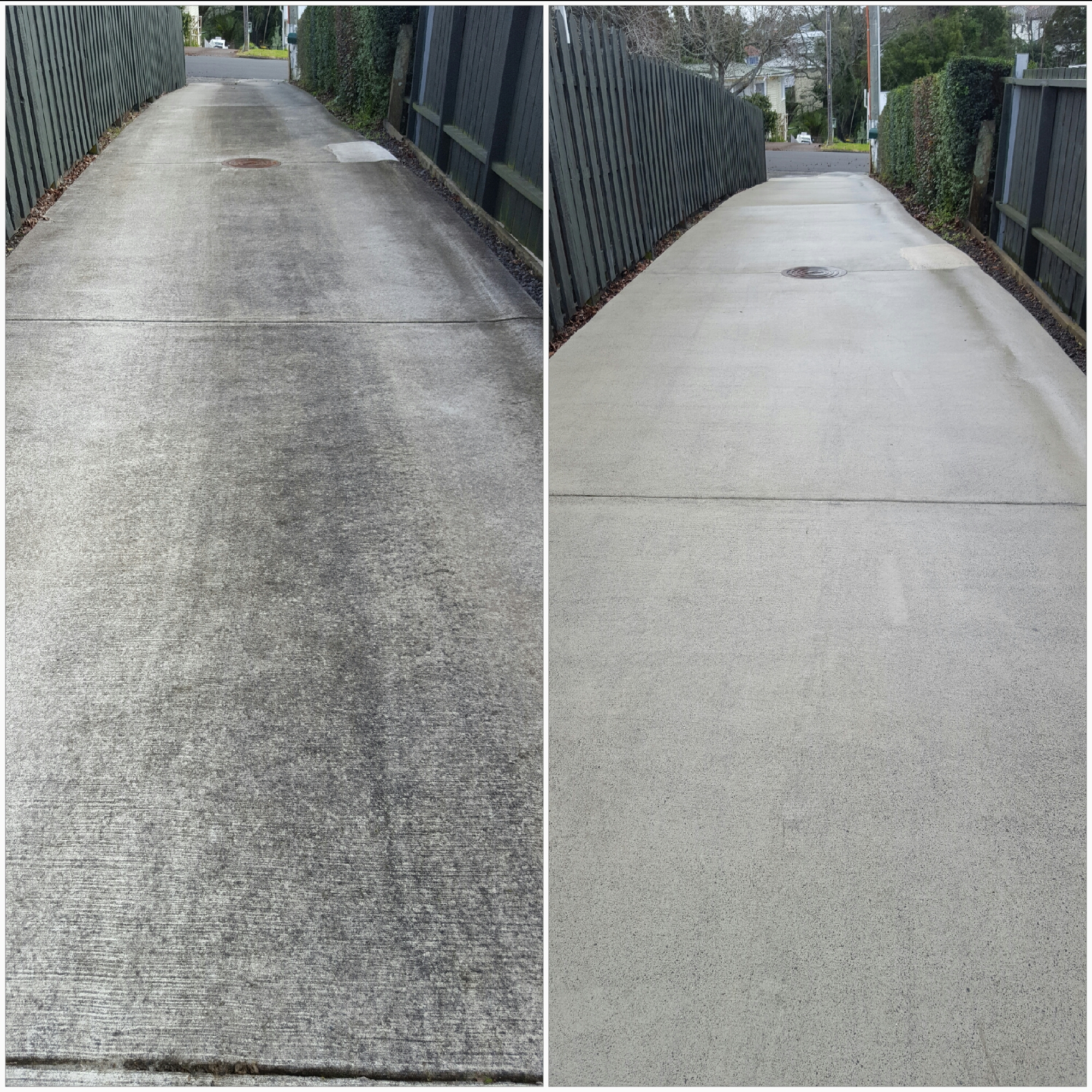 Gallery auckland waterblasters for Cleaning concrete steps